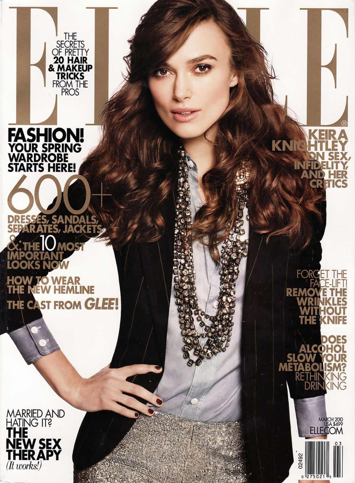 Elle US Mar 10 featuring Keira Knightly
